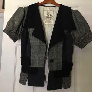 Vintage look short sleeve blazer
