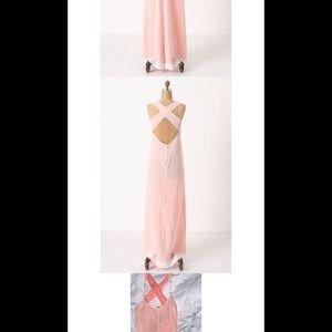 ANTHROPOLOGIE ELOISE Long Layered Maxi Dress