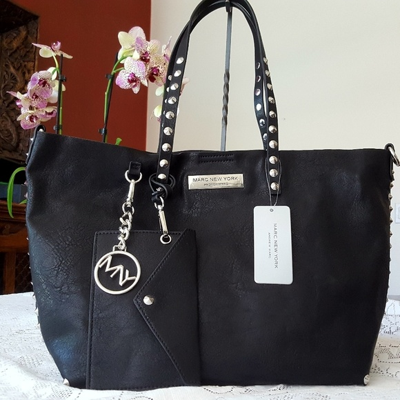 aba9bee1e1eb MARC NEW YORK STUD FAUX-LEATHER TOTE