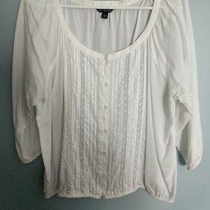 American Eagle white flowy blouse