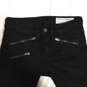 Rag & Bone | Zip Detail Skinny Jeans