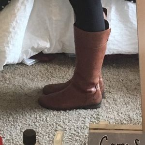 Shoes - Brown leather riding boots