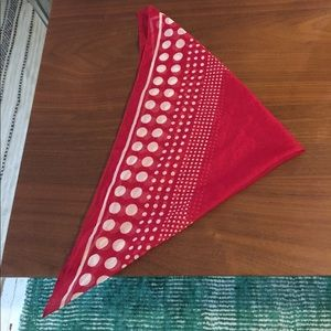 Accessories - Red polka dot scarf