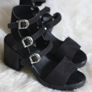 Edgy Topshop Heeled Sandals
