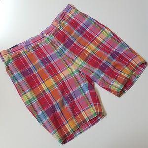 NWOT RALPH LAUREN mens plaid madras shorts