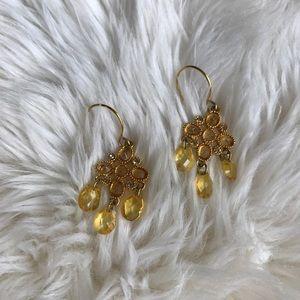 Gold toned chandelier earrings