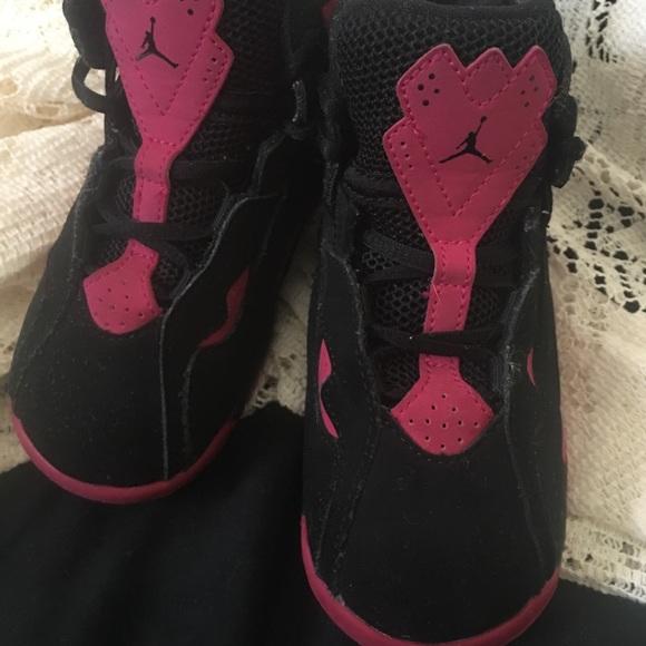 brand new 7aedc c89c3 Toddler Girl's Pink & Black Jordan's