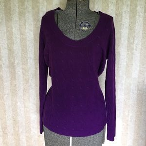 Purple scoop neck sweater