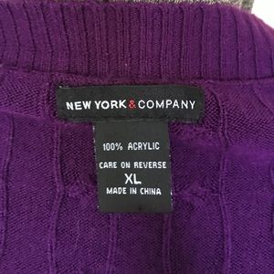 New York & Company Sweaters - Purple scoop neck sweater