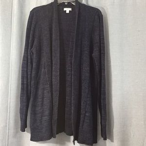Croft & Barrow dark navy blue cardigan