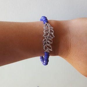 Jewelry - New Swarovski Crystal Purple Bracelet Stretchy