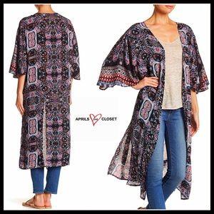 Sweaters - Kimono Long Cardigan