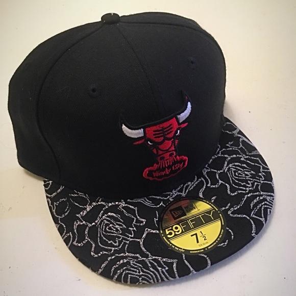9479955c29c New Era 5950 Chicago Bulls Fitted Hat 7 1 2 Cap