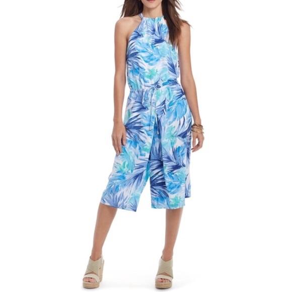 4b0afe7ebe Lauren Ralph Lauren Pants - Ralph Lauren brushstroke leaf print jumpsuit  blue