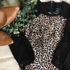 Cynthia Rowley Tops - Cynthia Rowley Sm 3/4 Length Cheetah-Print Top