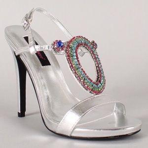 💖HP💖Silver Party Heels