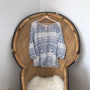 Tops - Bohemian Blue Tunic Blouse