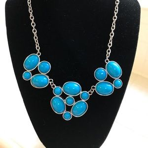 Gorgeous turquoise-colored statement necklace