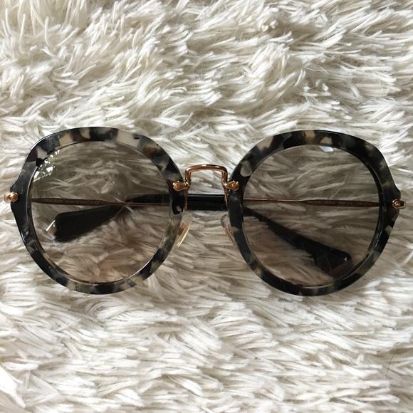 37bced4ec71a Miu Miu Round Tortoise Sunglasses. M 59877dd3a88e7dc0190843de. Other  Accessories ...