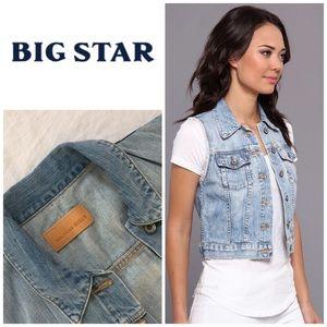 Jackets & Blazers - Big Star ⭐️ Denim Vest Sz Large