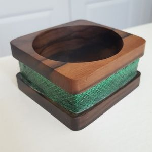 Jewelry - 2for10 Wood block bracelet with green accent