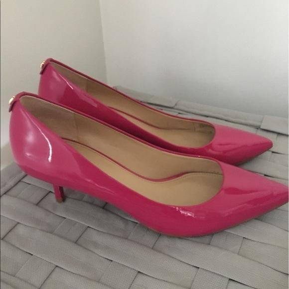 dcf5e3bf44e Hot Pink Michael Kors Kitten Heels