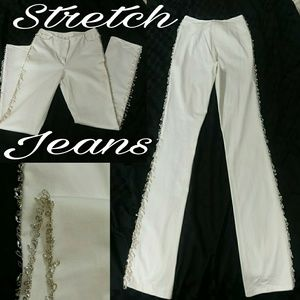 REDUCED White Dress Jeans w/ bling.