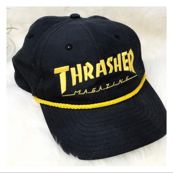 Thrasher Mag Classic Rope Snapback Cap Hat. M 5987891f2de512f3e0086eb7 030d1f4bb5a8
