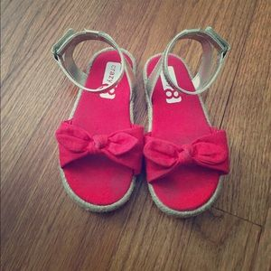 Other - Crazy 8's red espadrille sandals