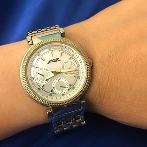 Accessories - Mother of pearl face chronograph watch