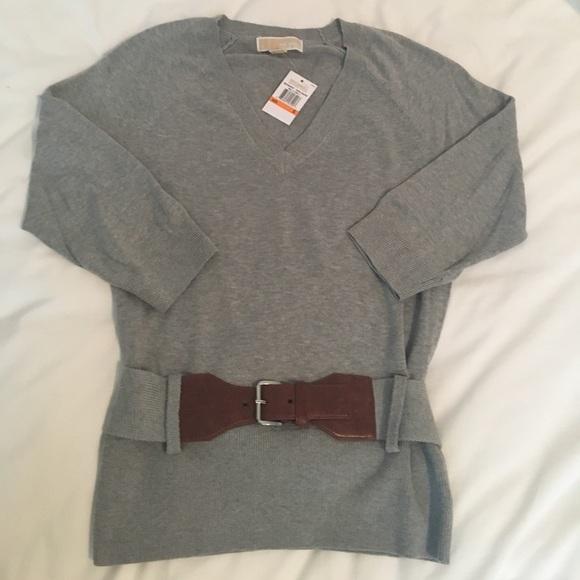 Womens Michael Kors belted sweater 9f9b0d2dd