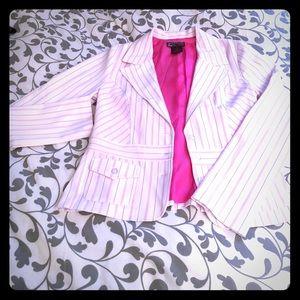Hotkiss white/hot pink blazer
