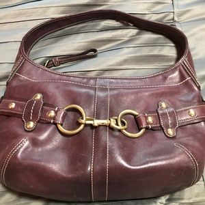 Older Burgandy Coach Bag