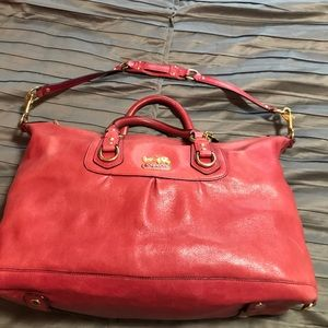 Large Cherry Coach Satchel