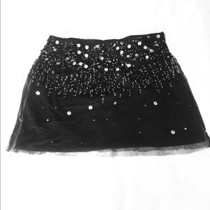 Wet Seal fashion sequined skirt size small