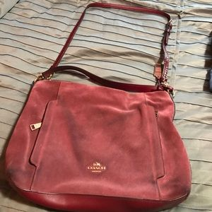 Burgandy Suede Coach Bag
