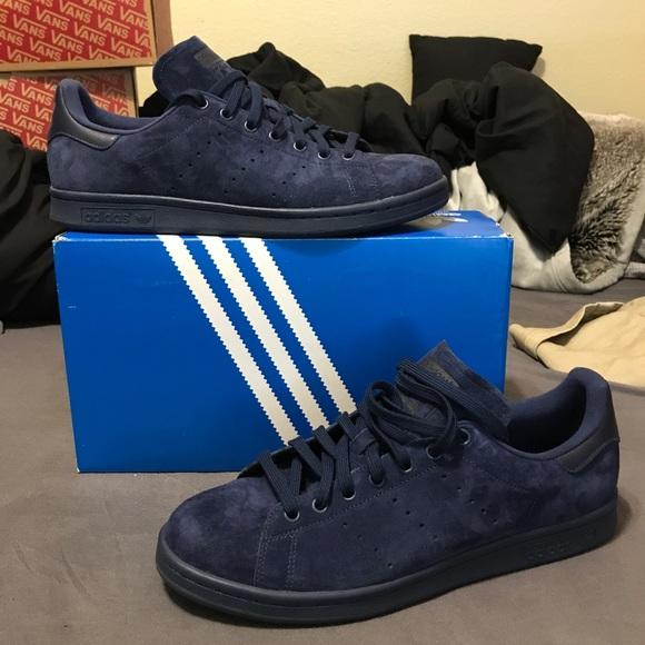 competencia Bienes Pico  Shoes | Adidas Stan Smith Suede Indigomidnight | Poshmark