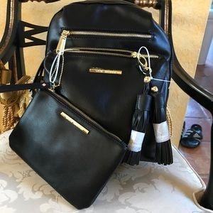 a2cc94fbeb18 Steve Madden Bags - MWT Steve Madden Blk Gold Backpack