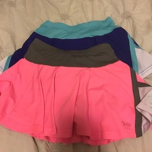 SET OF TWO CHAMPION KID'S ATHLETIC SKIRTS