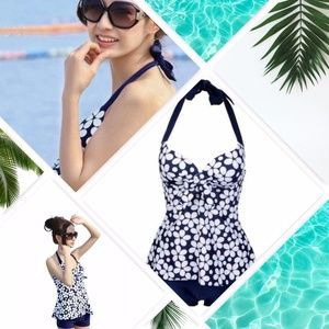 Other - • Stylish Floral Printed Halter Tankini