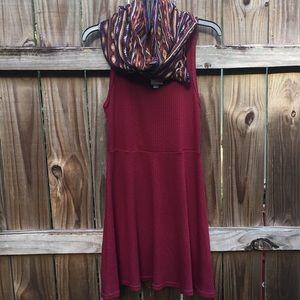 Wallflower skater dress and infinity scarf set