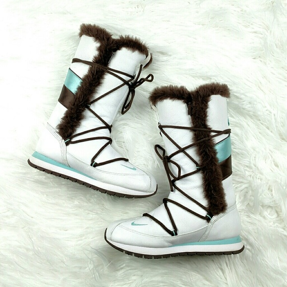 Nike ACG Faux Fur Leather Tall Winter Boots