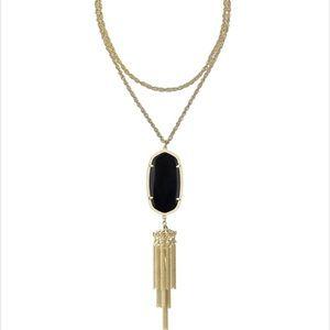 Kendra Scott Rayne Black / Gold necklace