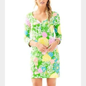 Lilly Pulitzer Palmetto Dress Hibiscus Stroll XL
