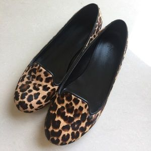 Cole Haan leopard print calf hair Slipper size 7
