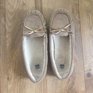 Shoes - Tan Moccasins