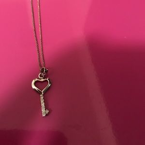 Jewelry - Heart key necklace silver with box