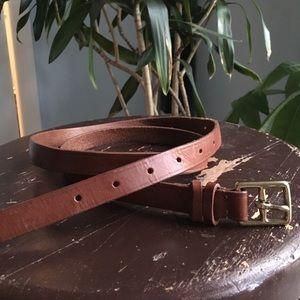 J.Crew Brown Leather Belt sz Large USA MADE