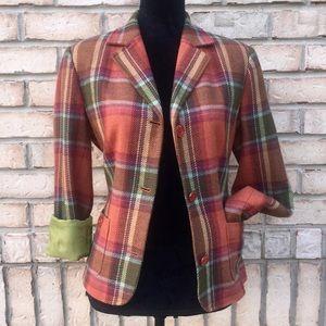 Jackets & Blazers - Plaid Fall Blazer