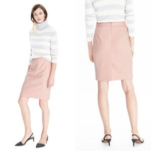 NWT blush brushed twill herringbone pencil skirt